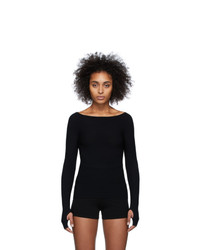 Live The Process Black Seamless Knit Top