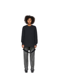 Helmut Lang Black Side Long Sleeve T Shirt