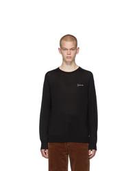 Givenchy Black Silk Signature Logo T Shirt