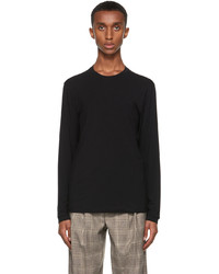 Giorgio Armani Black Stretch Bamboo Viscose Jersey T Shirt