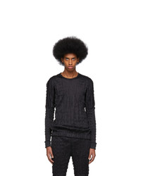 Issey Miyake Men Black Torus Melange T Shirt