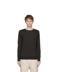 Loro Piana Black Wish Wool T Shirt Sweater