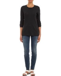 Proenza Schouler Classic Long Sleeve T Shirt Black