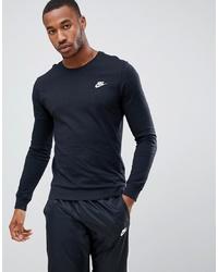 Nike Club Long Sleeve T Shirt In Black Aq7141 010