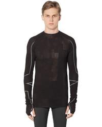 Y-3 Sport Cotton Blend Knit Long Sleeve T Shirt