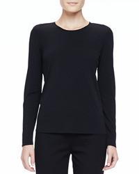 Eileen Fisher Silk Jersey Long Sleeve Tee