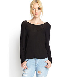 Forever 21 Cowl Back Knit Top