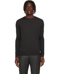 Loro Piana Grey Wool Long Sleeve T Shirt
