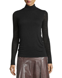 Halston Heritage Long Sleeve Slim Turtleneck Tee