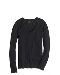 J.Crew Vintage Cotton Long Sleeve Scoopneck T Shirt