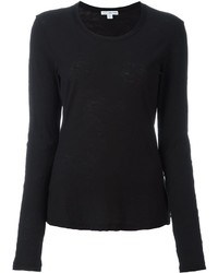 James Perse Round Neck Longsleeved T Shirt