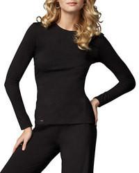 La Perla Tricot Long Sleeve Top Black