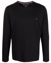 Tommy Hilfiger Logo Embroidered Long Sleeve T Shirt