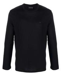 Emporio Armani Logo Patch Cotton Jersey Top
