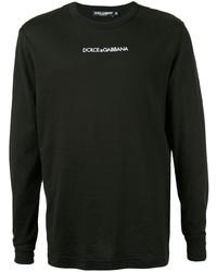 Dolce & Gabbana Logo Print Long Sleeve T Shirt
