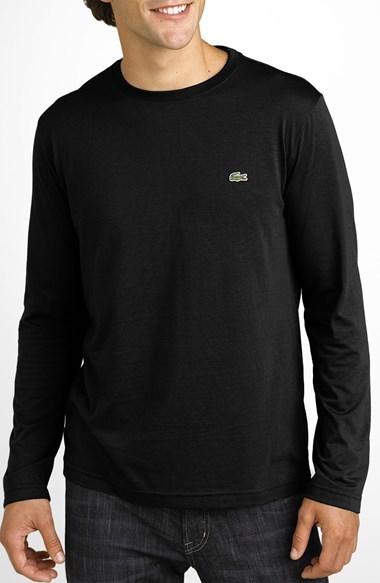 fe1775696cf60 ... Lacoste Long Sleeve Pima Cotton T Shirt ...