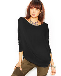 Free People Long Sleeve Scoop Neck Buckley Tee