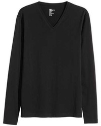 H&M Long Sleeved T Shirt Slim Fit