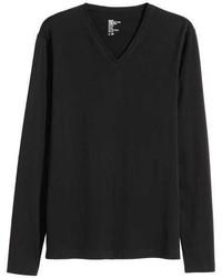 H&M Long Sleeved T Shirt Slim Fit