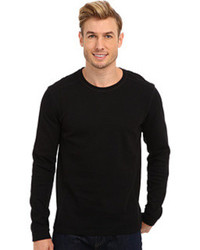 Calvin Klein Jeans Ls Mixed Media Waffle Pullover