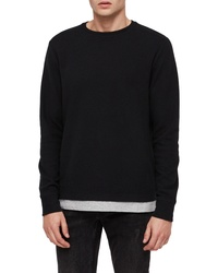 AllSaints Luge Solid Long Sleeve T Shirt