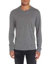 James Perse Melange Knit Long Sleeve T Shirt