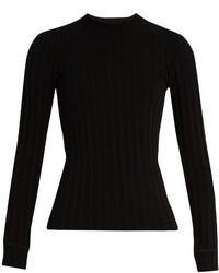 Simon Miller Mira Long Sleeved Ribbed Knit T Shirt