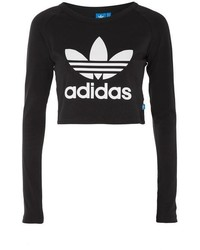 adidas Originals Cropped Long Sleeve T Shirt
