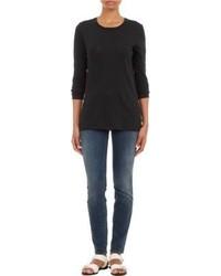 Proenza Schouler Classic Long Sleeve T Shirt Black