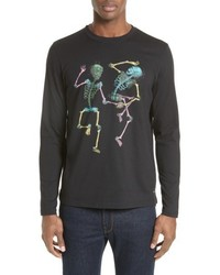 Paul Smith Ps Dancing Skeletons Long Sleeve T Shirt