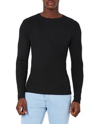 Topman Rib Knit Long Sleeve T Shirt