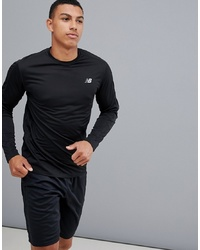 New Balance Running Accelerate Long Sleeve Top In Black