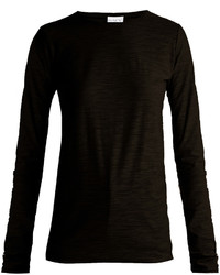 Raey Ry Long Sleeved Slubby Cotton Jersey T Shirt