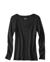 SAE-A TRADING Ultimate Long Sleeve Scoop Tee Black M
