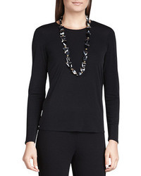 Eileen Fisher Silk Jersey Long Sleeve Tee