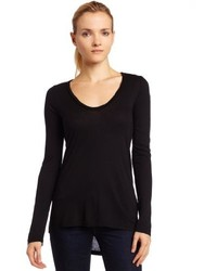 Splendid Light Jersey Long Sleeve Scoop Neck Tee