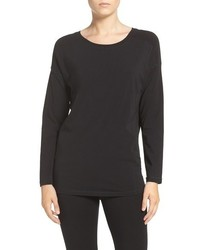 DKNY Stretch Pima Cotton Jersey Long Sleeve Tee