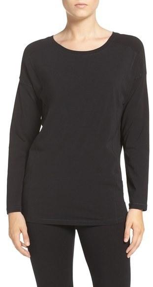 DKNY Stretch Pima Cotton Jersey Long Sleeve Tee