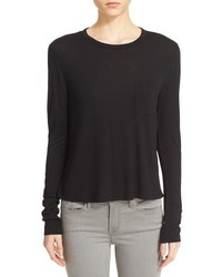 Alexander Wang T By Crop Long Sleeve Tee