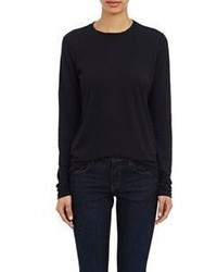 Proenza Schouler Tissue Weight Long Sleeve T Shirt Black