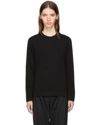 Comme des Garcons Tricot Comme Des Garons Black Long Sleeve Wool T Shirt