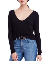 Free People We The Free By Catalina V Neck Thermal Top
