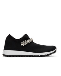 Jimmy Choo Black Crystal Verona Sneakers