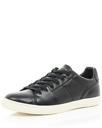 River Island Black Lace Up Sneakers