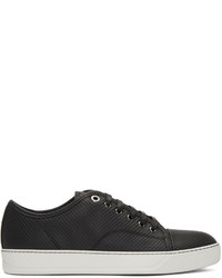 Black perforated low top sneakers medium 1044356