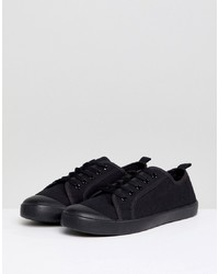 New Look Black Plimsoll