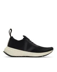 Rick Owens Black Veja Edition V Knit Sneakers