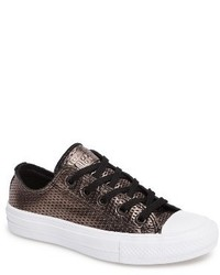Converse Chuck Ii Perforated Metallic Low Top Sneaker