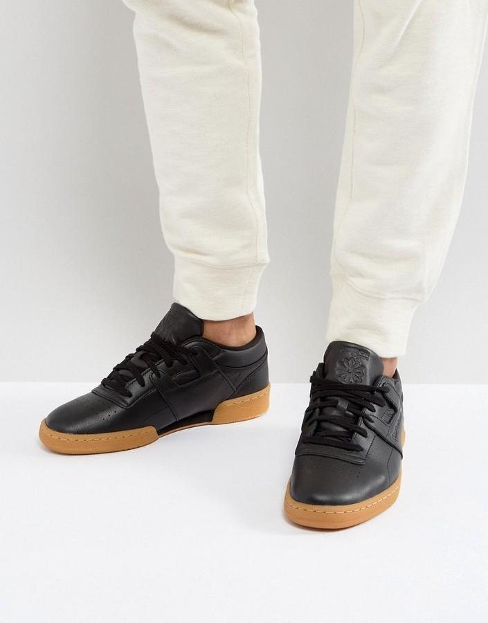 221126871ff0f ... Reebok Club Workout Gum Sole Sneakers In Black Bs6206 ...