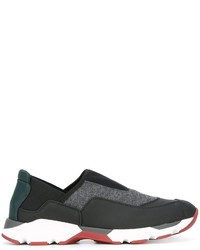 Marni Panelled Low Top Sneakers
